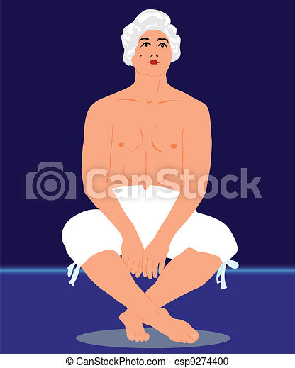 man in a bare-chested in pants - csp9274400