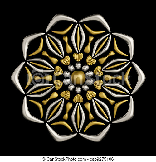 Jewelry brooch design - csp9275106