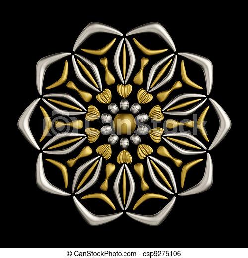 Jewelry brooch design - csp9275106