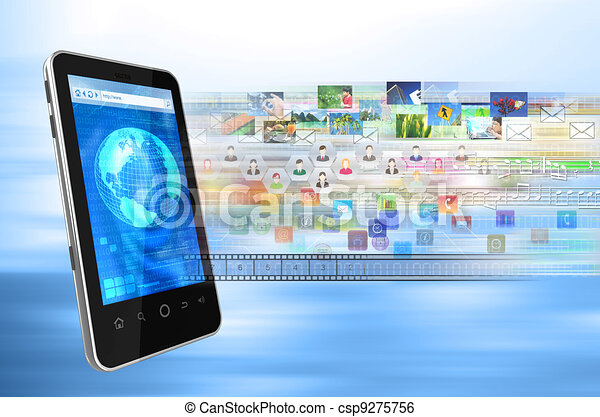 Smartphone internet - csp9275756