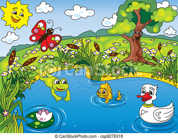 Clip Art Pond Clip Art pond illustrations and stock art 9865 illustration clipartby colematt6612 life cartoon kids of the with