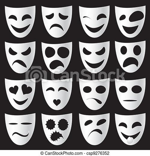 Theatre masks - csp9276352
