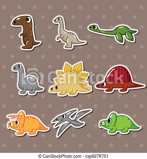 dinosaur stickers - csp9276701
