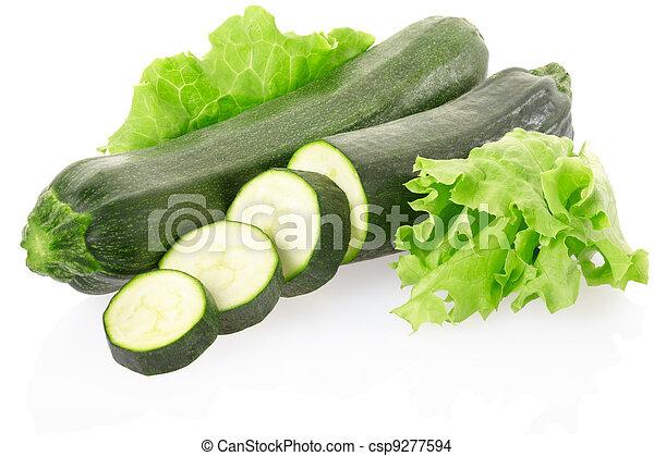 Zucchini sliced - csp9277594
