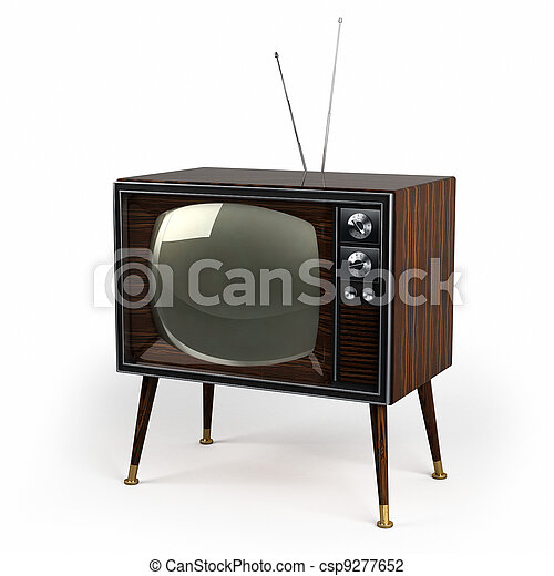 Wood Veneer Vintage TV - csp9277652