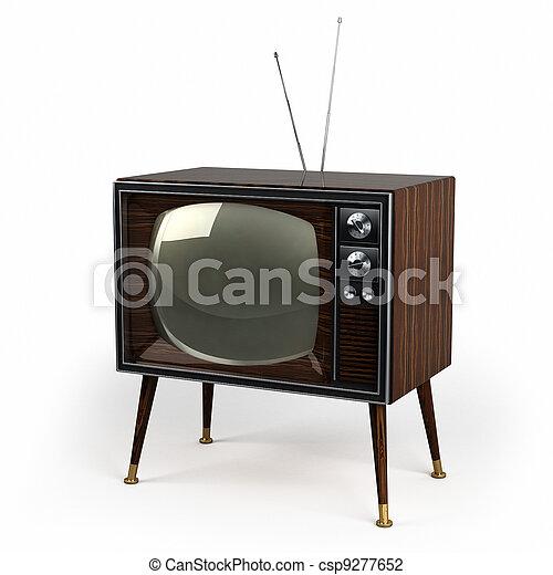 Wood Veneer Vintage TV - csp9277652