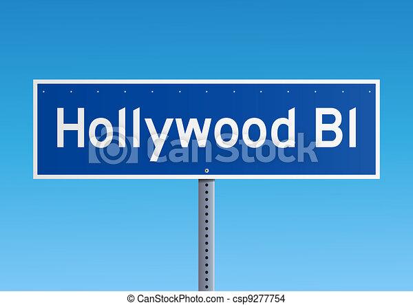 Hollywood Bl sign - csp9277754