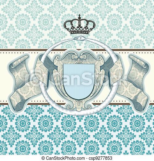 card baroque - csp9277853