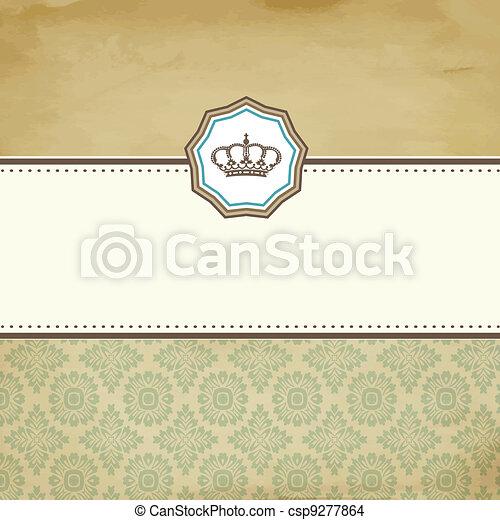 Baroque card - csp9277864