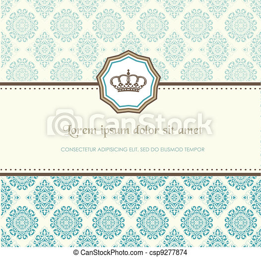 Baroque card - csp9277874