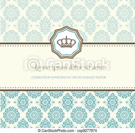 Baroque card - csp9277874