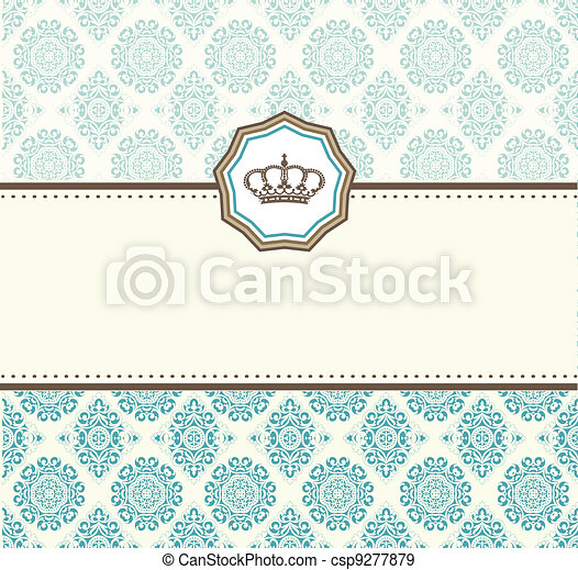 card baroque - csp9277879