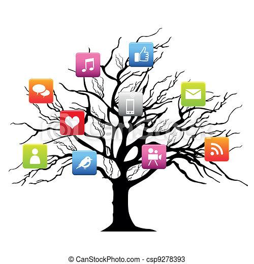 Social media tree - csp9278393