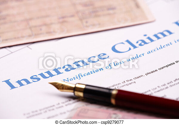 Blank insurance claim form - csp9279077