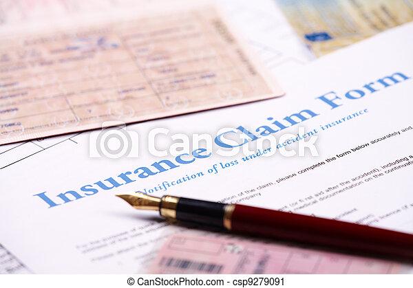 Blank insurance claim form - csp9279091