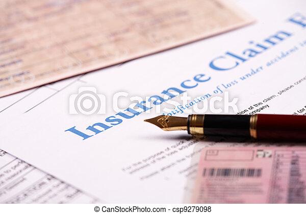 Blank insurance claim form - csp9279098