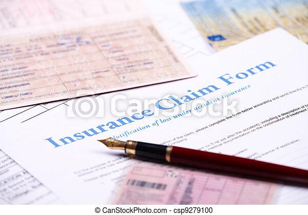 Blank insurance claim form - csp9279100