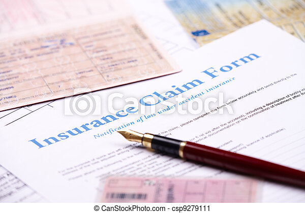 Blank insurance claim form - csp9279111