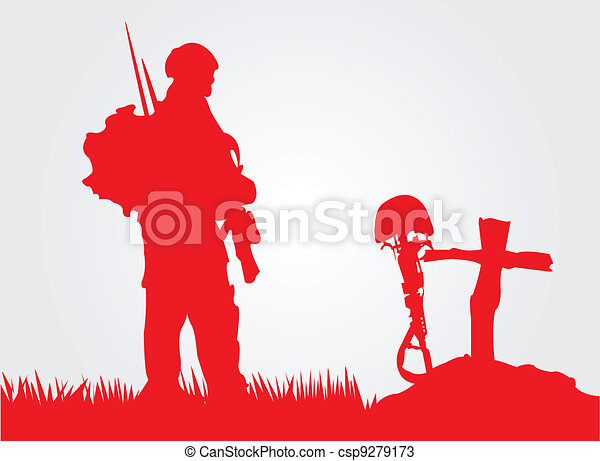 Vectors Of Paying Respect A Soldier Paying Respect To A