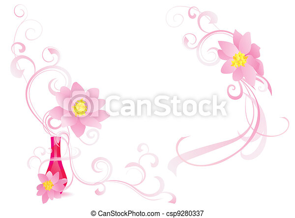 pink fragrance vector image - csp9280337