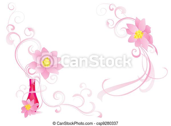 pink fragrance vector image - csp9280337