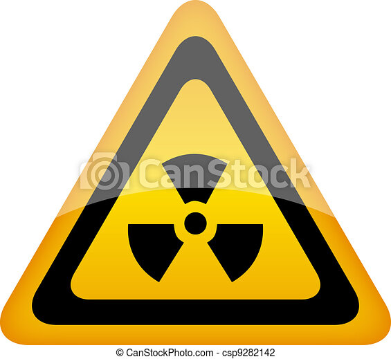 Vector radiation sign - csp9282142