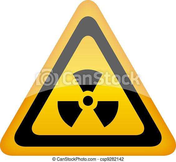 Vector radiation sign - csp9282142