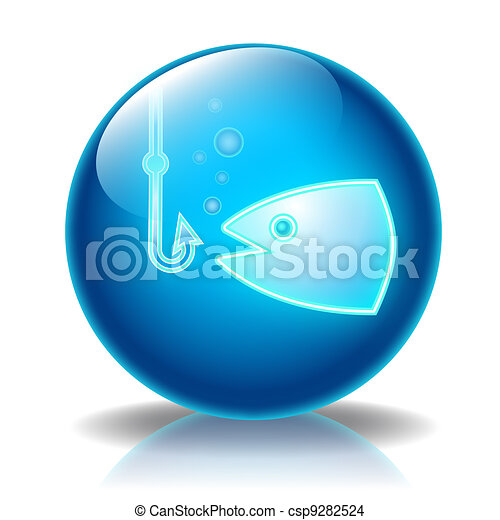 Fishing glossy icon - csp9282524