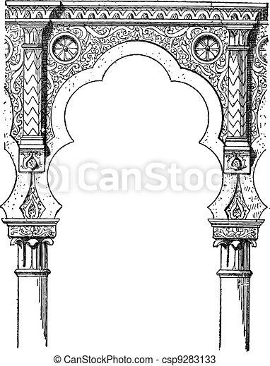 Lobe, vintage engraving - csp9283133