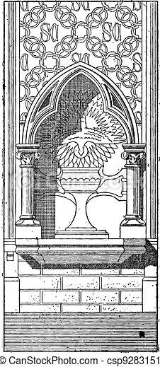 Lobe, vintage engraving - csp9283151