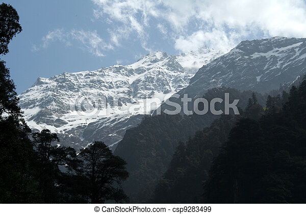 Himalayan Mountainous Landscape - csp9283499