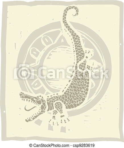Alligator Circle - csp9283619