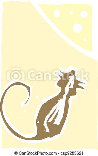 Rat and Cheese - csp9283621
