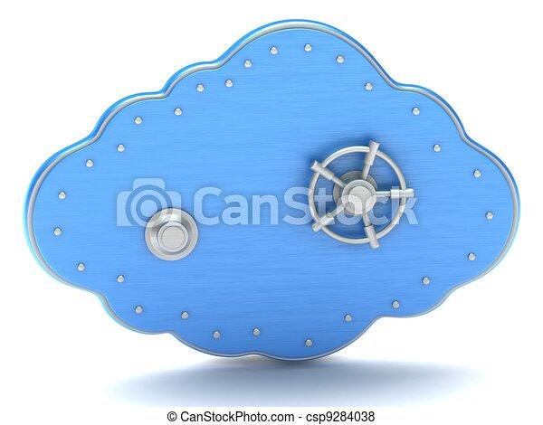 Cloud - safe box - csp9284038