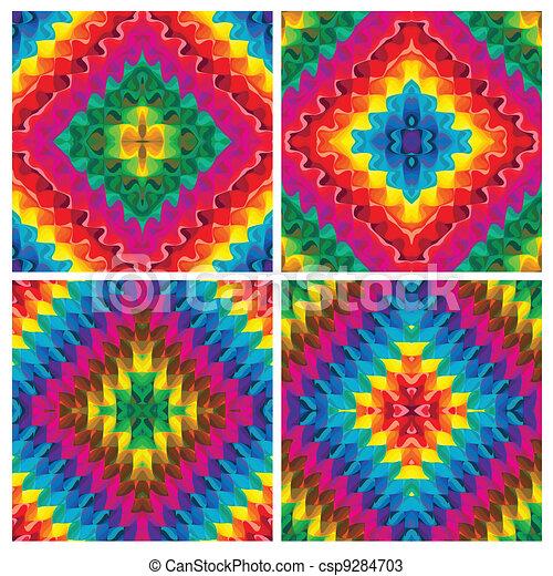 Set of vector pop art textures - csp9284703
