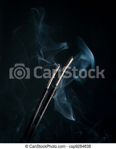 incense with smoke - csp9284838