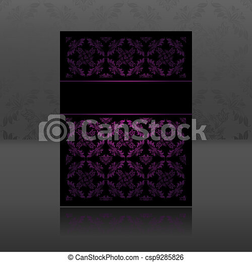 Pattern, ornament lilac floral - csp9285826