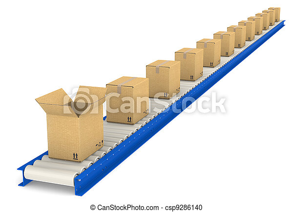 Conveyor Belt. - csp9286140