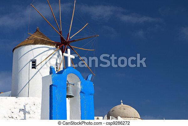 Santorini island in Greece - csp9286272