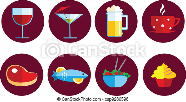 set of food and drink icons - csp9286598
