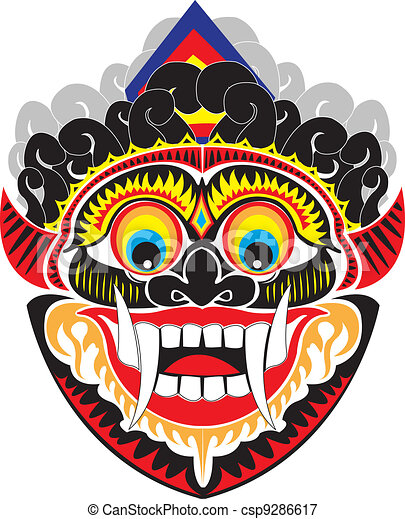 Vectors Illustration of Indo mask  An Indonesian demon mask. csp9286617  Search Clipart