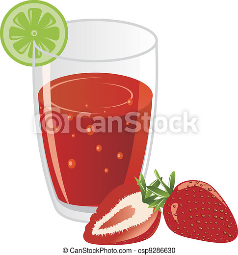 fresh strawberry juice  - csp9286630
