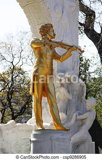 Johann Strauss Monument Vienna - csp9286905