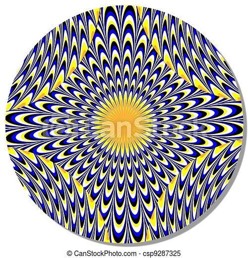 alucinação, disco, movimento, ilusão - csp9287325