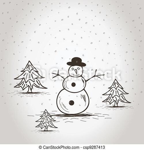 snowman2 - csp9287413