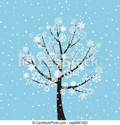 Winter tree - csp9287423