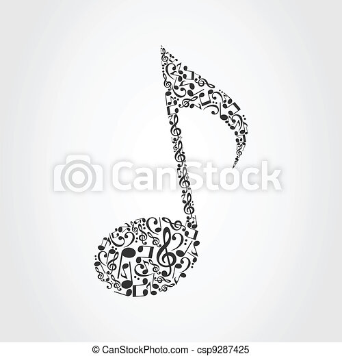 Musical note6 - csp9287425