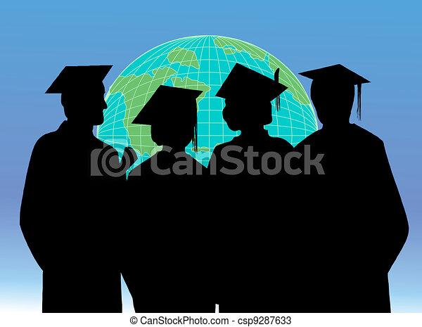 Graduation celebration students - csp9287633