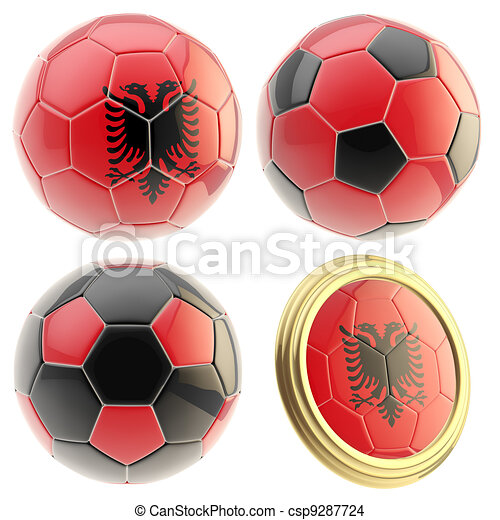 Albania football team attributes isolated - csp9287724