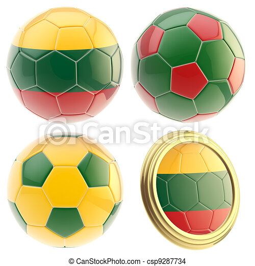 Lithuania football team attributes isolated - csp9287734